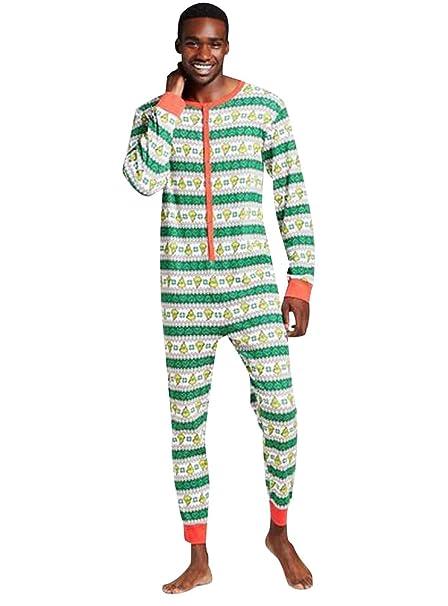 ISSHE Pijamas de Navidad Familia Adultos Pijama de Una Pieza Familiares Manga Larga Hombre Mujer Pijamas Enteros Para Niños Niña Chica Trajes Navideños Para ...