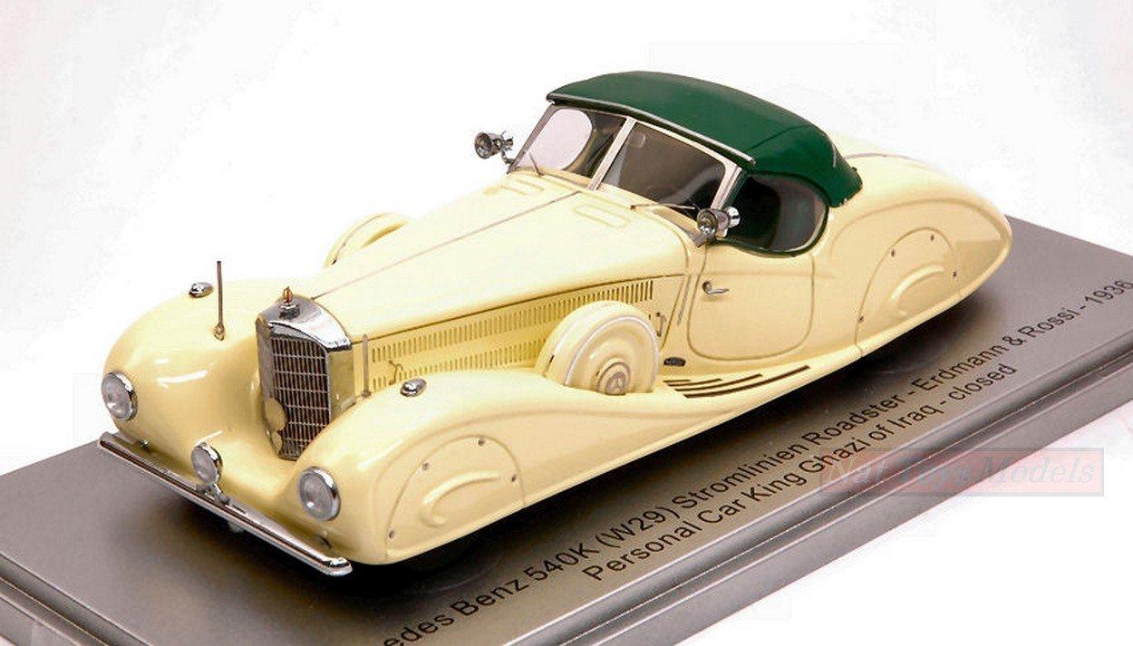 KESS MODEL KS43037013 MERCEDES 540K E  R 1936 PERSONAL CAR KING GHAZI 1:43