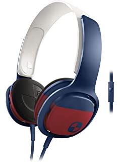 Philips SHO3305BOARD/28 ONeill Cruz Headband Headphones, Blue/Red