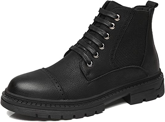 Leo Mens Short Boots Chelsea Retro Fashion Pull on Leather Casual Boots Size 6-10