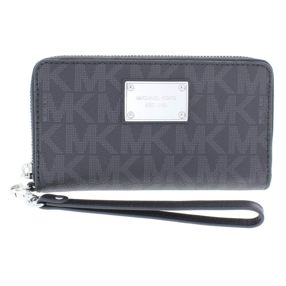 MICHAEL Michael Kors Womens Jet Set Faux Leather PDA Wristlet Black O/S by Michael Kors