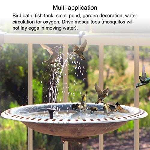 Ankway Solar Bird Bath Fountain Pump 1 4w Free Standing