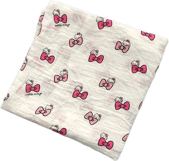 120x120cm Manta de muselina para beb/é manta para beb/é Algod/ón 100/% Reci/én nacido Toalla de ba/ño para beb/é Mantas Swaddle Multi Designs Funciones kitty multicolor