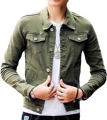 Winwinus Mens Spring//Fall Chinese Style Silm Fit Long-Sleeve Casual Denim Shirt