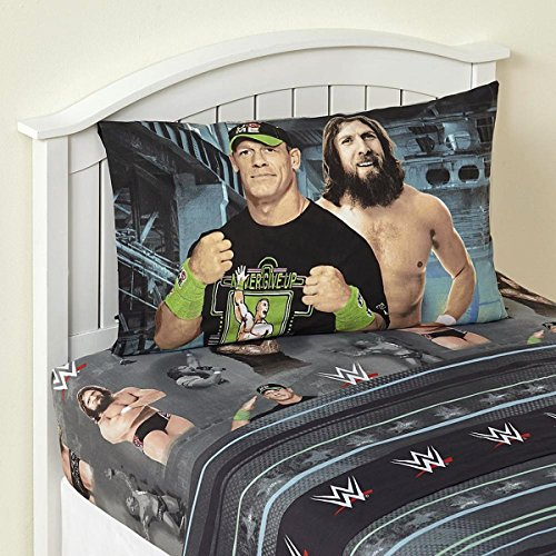 3 Piece Children Sheet Set Twin Size WWE Superstars Bedding Set Twin for Boys by WWE