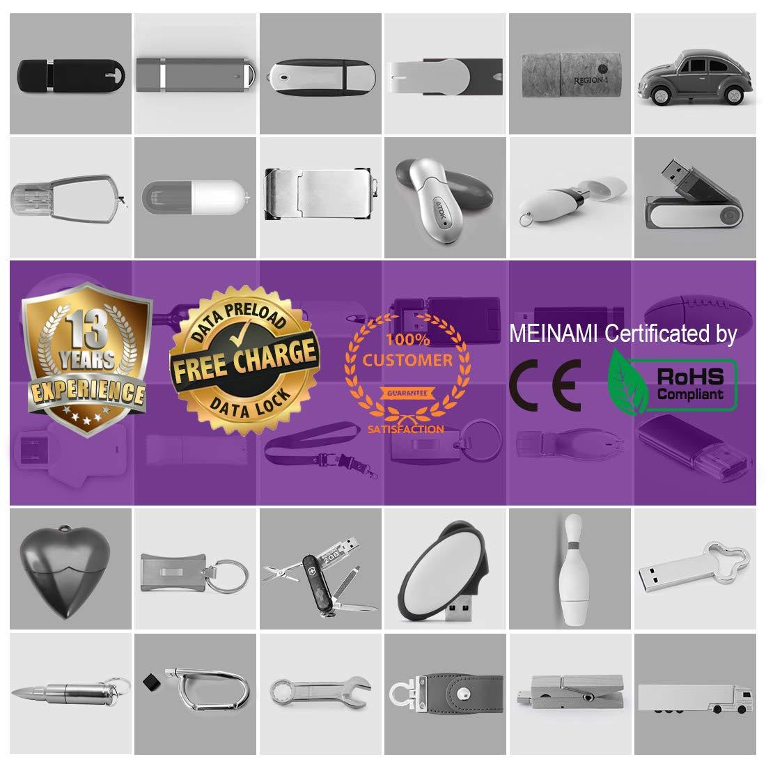100 Pack 4GB USB Flash Drive Custom USB Thumb Drive Promotional Memory Stick Personalized Logo Jump Drive Twister Swivel Design in Bulk - PMS by MEINAMI (Image #9)