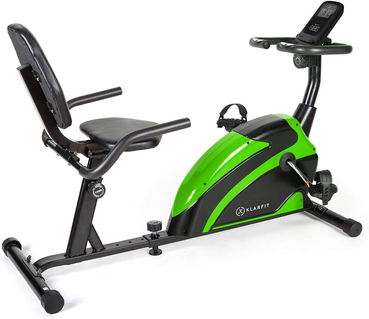 KLAR FIT Relaxbike 6.0 SE Bicicleta reclinada - Bicicleta estática, Volante de inercia de 12 kg, Resistencia magnética de 8 Niveles, Soporte para Tablet, Silencioso, hasta 100 kg