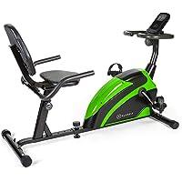 Klarfit Relaxbike 6.0 SE Liege-Ergometer - Cardiobike, Heimtrainer, Schwungmasse: 12 kg, 8-Stufiger Magnetwiderstand, Tablethalterung, PulseControl, SilentBelt Drive, max. 100 kg