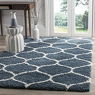 Safavieh Hudson Shag Collection SGH280L Slate Blue and Ivory Moroccan Ogee Plush Area Rug (8' x 10') (B01LXTN2O0) | Amazon price tracker / tracking, Amazon price history charts, Amazon price watches, Amazon price drop alerts