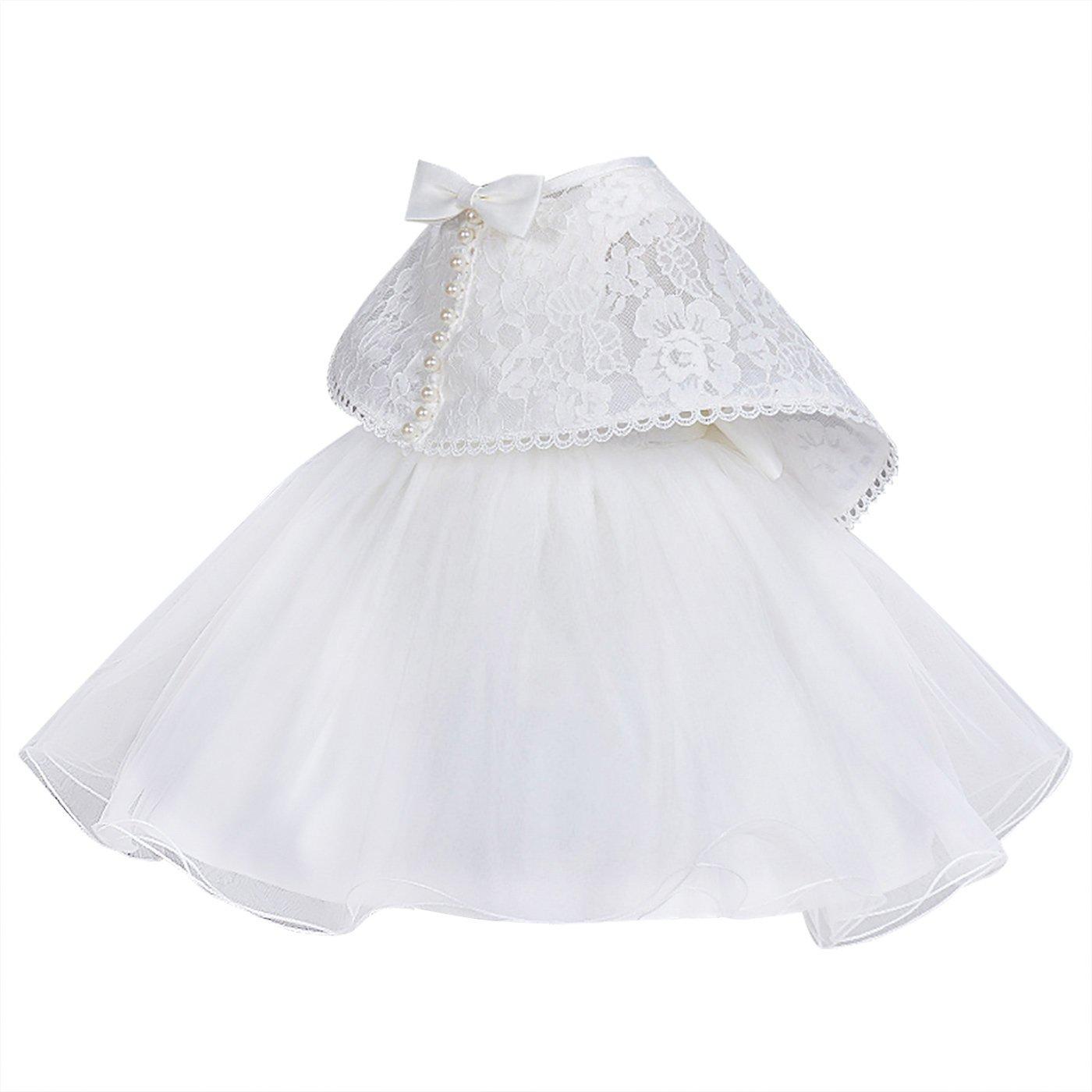 1a6b82f97 Happy Cherry - Vestido Tutu de Boda Bautizo para Bebés Recien nacido ...