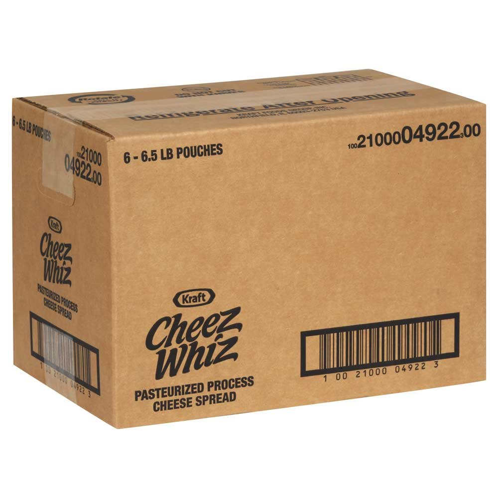 Cheez Whiz Pasteurized Process Cheese Spread, 6.5 Pound -- 6 per case. by Cheez Whiz