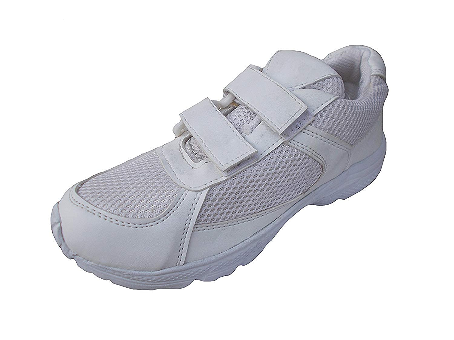 reasonable price top brands picked up Buy Port Unisex White School Shoes (Size 5 UK/IND) at Amazon.in