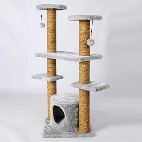 Aoligei Árbol para Gatos Gato Grande de Tablero de Pet Suministros Tease de Algas Felpa Juguete