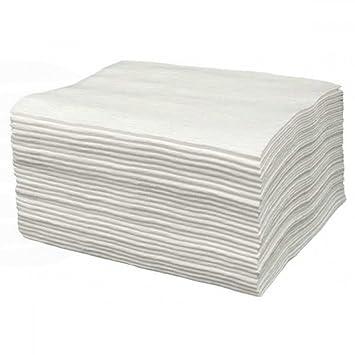 Bifull TOALLAS DESECHABLES Spunlace Blanco PAQUETE 25 Unidades 80 x 40 50gr - Composición 50% viscosa y 50% pet: Amazon.es: Salud y cuidado personal
