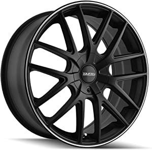 TOUREN TR60 (3260) BLACK Wheel with Matte MACHINED Ring (0 x 8.5 inches /5 x 108 mm, 40 mm Offset)