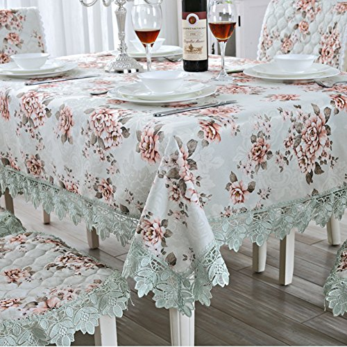 European Tablecloth Jacquard Wallpaper,Lace Table Cloth Round Tea Cloth Cloth Cover Towel-D 70x210cm(28x83inch)
