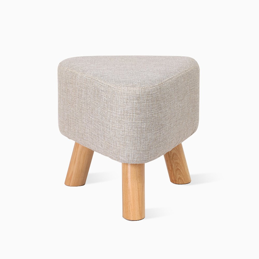 Stool/small stool/solid wood shoes stool/casual triangle stool/dwarf pier stool (Color : A)