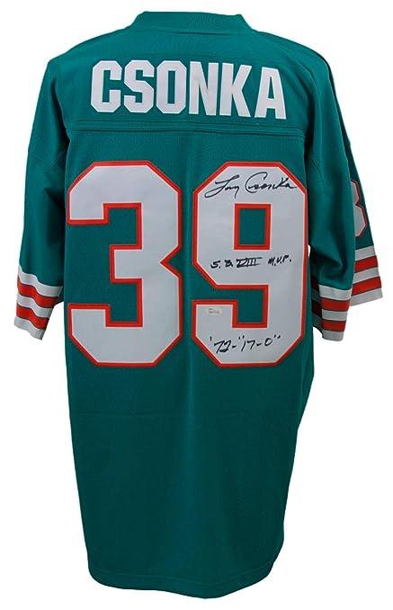 hot sale online 24b38 f918b Larry Csonka Signed Miami Dolphins Replica M&N Jersey 2 ...