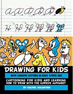 drawing for kids with cursive letters in easy steps abc cartooning for kids and learning