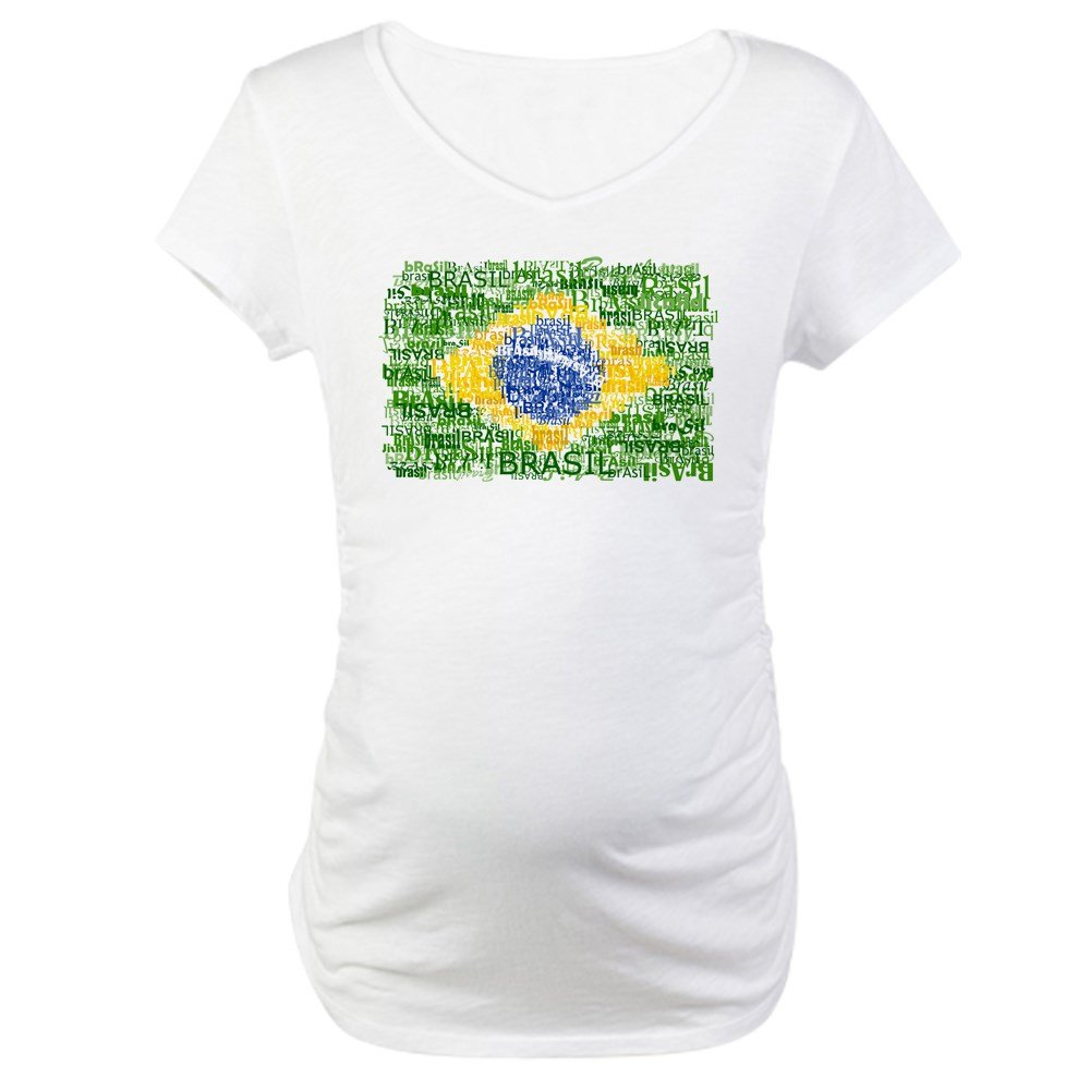 d105ded62 CafePress Textual Brasil Maternity T-Shirt Maternity Tee White at Amazon  Women's Clothing store: