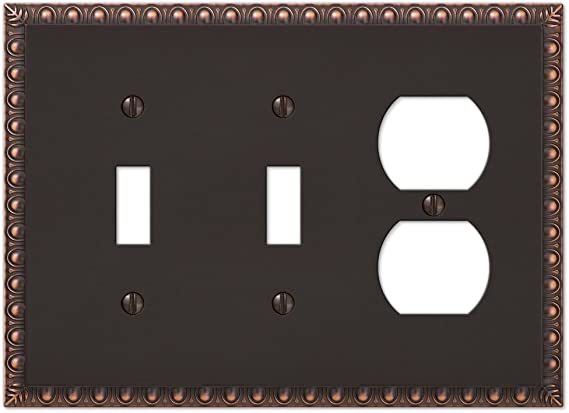 2 Toggle 1 Duplex Switch Plate Outlet Wall Plate Cover Oil Rubbed Bronze Amazon Com