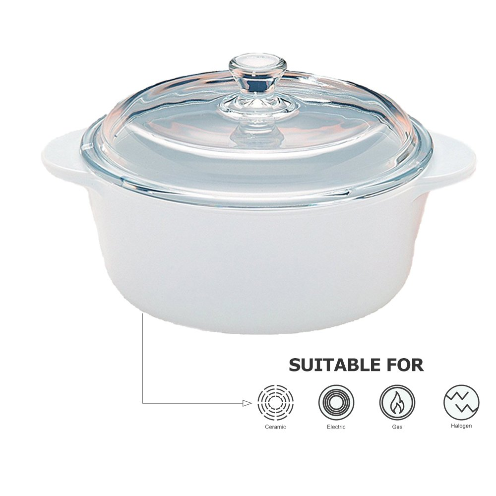 Arzberg Genesis Casserole with lid / 1L / Ø 16,5cm / Heat Resistant Ovenware/Impact-Scratch-Resistant/Suited for Microwave, Oven, Refrigerator and Dishwasher/Not for Induction
