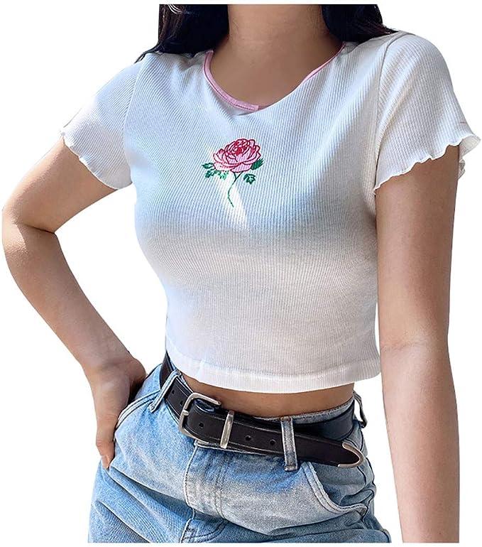 Damenmode Kurzarm Falten Blusen T Shirt Plusgröße Freizeit Sommer Schlank Tee B