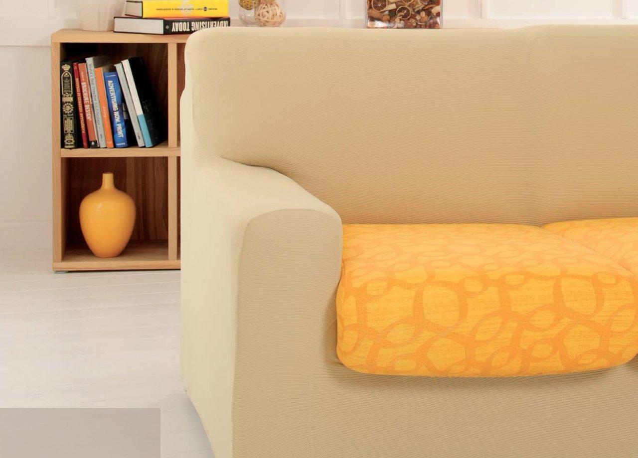 BIANCHERIAWEB Copriseduta Sofa Cover in Fantasia Disegno Ray One Coppia 1Posto Ray One Azzurro 570