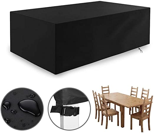 Dustproof Protector Cubierta de muebles de jardín, cubierta de mesa de jardín resistente, cubiertas de muebles