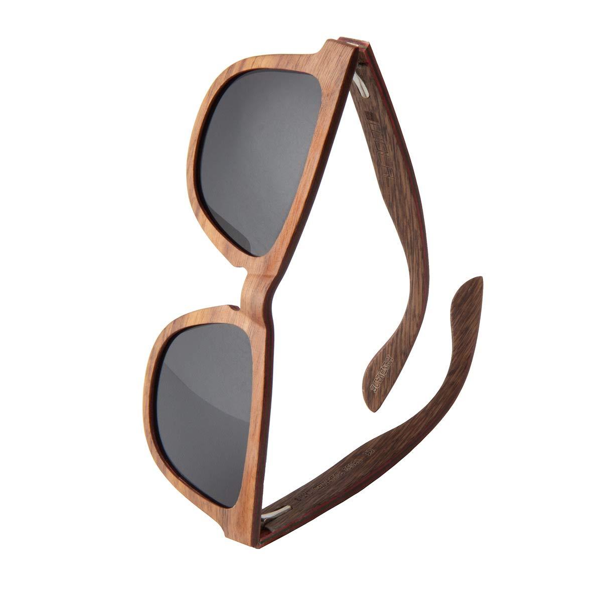 WOLA estilo cuadradas gafas de sol en madera AERO mujer y hombre madera, sunglasses UV400 - polarisado