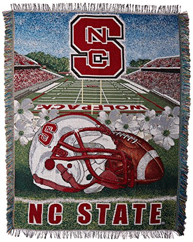 The Northwest Company Officially Licensed NCAA North Carolina State Wolfpack Home Field Advantage Woven Tapestry Throw Blanket, 48