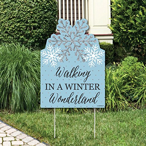 Winter Holiday Gift Wonderland (Winter Wonderland - Party Decorations - Snowflake Holiday Party & Winter Wedding Welcome Yard Sign)