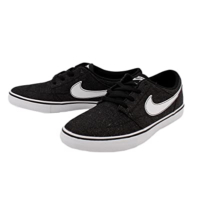 official shop so cheap stable quality Nike SB Mens Solarsoft Portmore II Canvas Premium Skateboarding Shoe (8.5  D(M) US Men) Black/White