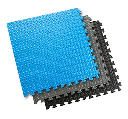 Sivan Health and Fitness Puzzle Exercise Mat EVA Foam Interlocking Tiles