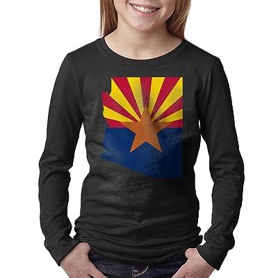 08&FD0 Flag Map Of Arizona Unisex-Child Round Neck Tee Shirt