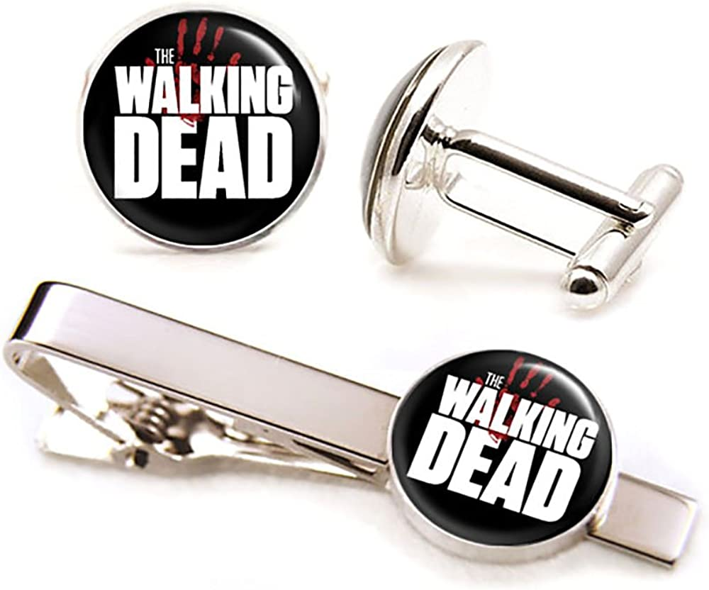 SharedImagination The Walking Dead Cufflinks, AMC Walking Dead Tie Clip, Zombie Cuff Links, Z Nation Jewelry, Wedding Gifts, Groomsmen