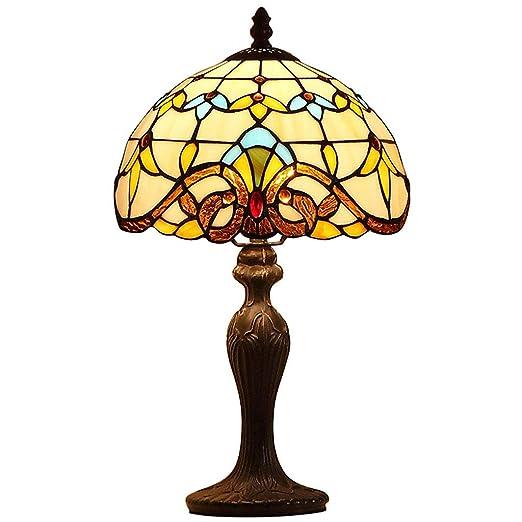 WZJ-TABLE LAMP Mediterráneo Retro Tiffāny Lámpara de Mesa ...