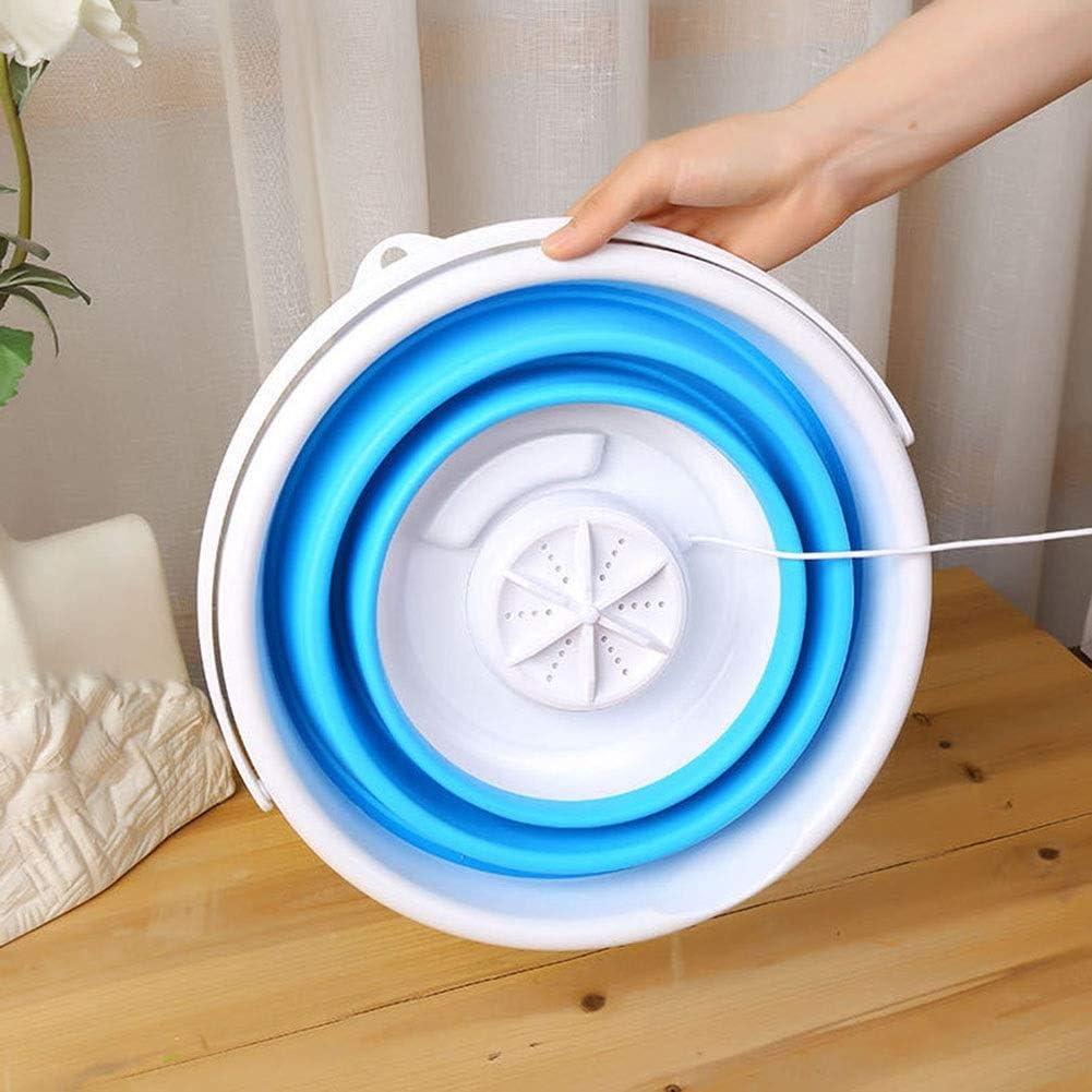 2020 Lavatrice Portatile Aggiornata Mini Lavatrice Multifunzione per Viaggio di Casa Viaggio di Sterilizzazione Alimentato Compatto USB Color : Blue, Size : 5L Lavatrice Portatile