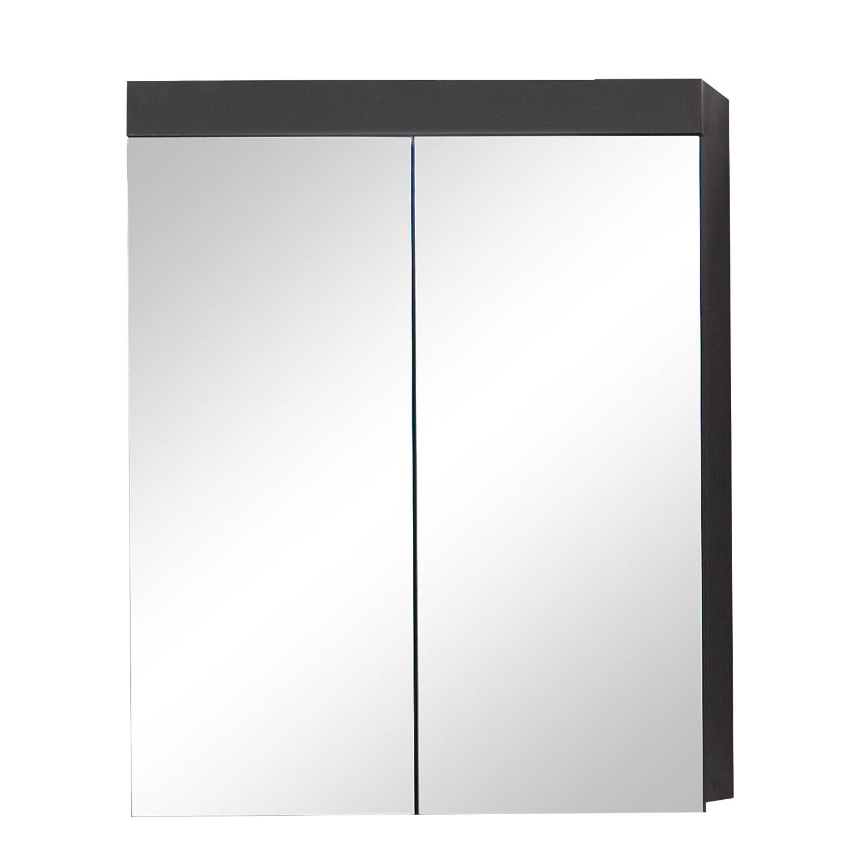 trendteam smart living Armadio con Specchio, Hochglanz Agave Grau, 60 x 77 x 17 cm 139340521