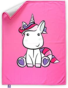 Kawaii Cute Unicorn Blanket for Girls (40 x 50 Inch) Super Soft Polyester Fleece Throw Blanket - Breathable, Lightweight, and Hypoallergenic