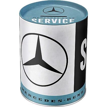 Nostalgic-Art 31020 Mercedes-Benz-Service   Retro Spardose   Spar-Büchse   Geld-Dose   Abnehmbarer Deckel   Metall Hucha, Metal, carbón, 10 x 10 x 13 ...