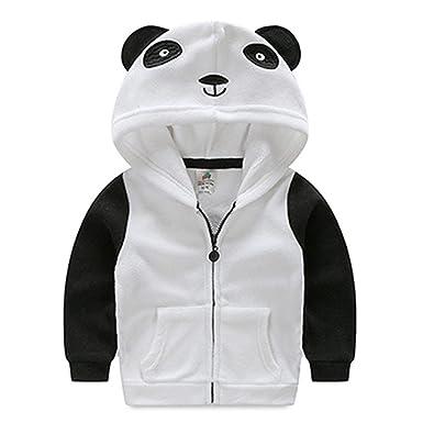 bba148ecd Amazon.com  Toddler Boys Girls Animal Shaped Hooded Jacket Coats ...