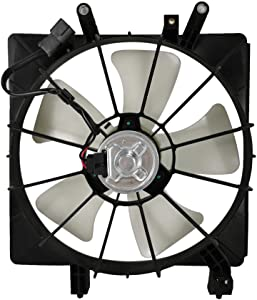 Focreedy HO1007 Replacement Radiator Cooling Fan Assembly For Honda Civic 1.7L 2001-2005