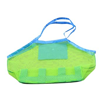 80fb1d3b87f6 LIOOBO Beach Bags Outdoor Storage Bags for Children s Toys Mesh Bags  Portable Mesh Tote Backpack Storage Bag Big Size  Amazon.co.uk  Sports    Outdoors