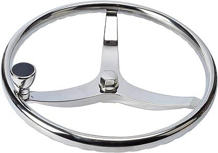 US STOCK Boat Stainless Steel Steering Wheel 9 Spoke 13-1//2/'/' Dia for Marine A