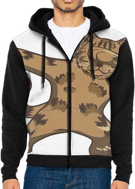 Shenghong Lin Mouse Dabbing Cool Mens Black Hoodie Sweatshirt Sportswear Jackets With Hoodies