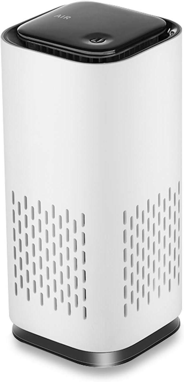 Jsdoin Purificador de Aire Portátil, Limpiador de aire silencioso, Mini Filtro de aire USB C con Filtro Carbón Activado, Purificador de aire para el hogar, Oficina Eliminar Polvo, Polen, Humo, olor