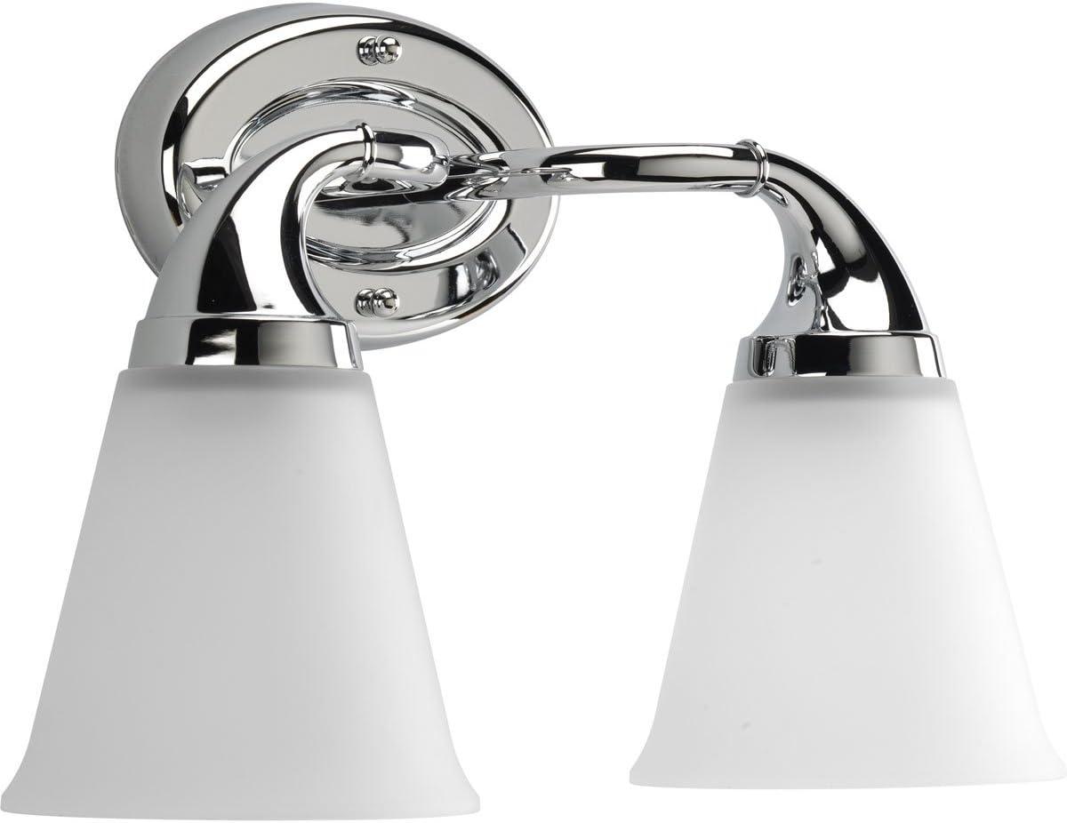 Progress Lighting P2759-15 2-Light Bath Which Mounts Up Or Down, Polished Chrome