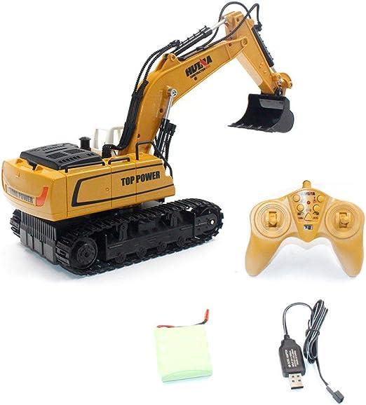 Kaemma HUINA Toys 1331 1/16 9CH RC Excavator Truck Engineering ...