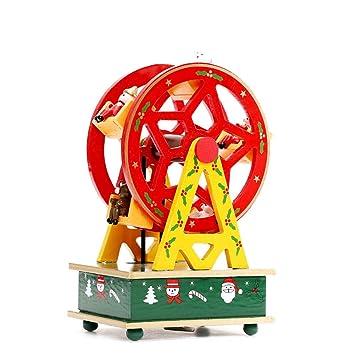 Christmas Ferris Wheel Music Box.Amazon Com Mghome Christmas Ferris Wheel Figurines Music